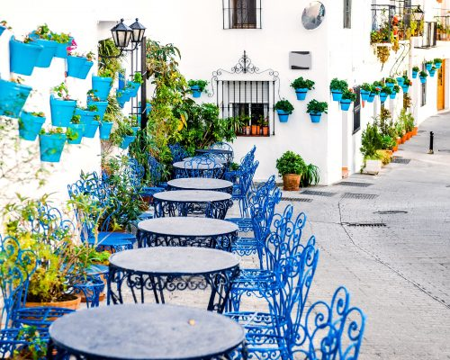 Mijas,Street.,Charming,White,Village,In,Andalusia,,Costa,Del,Sol.